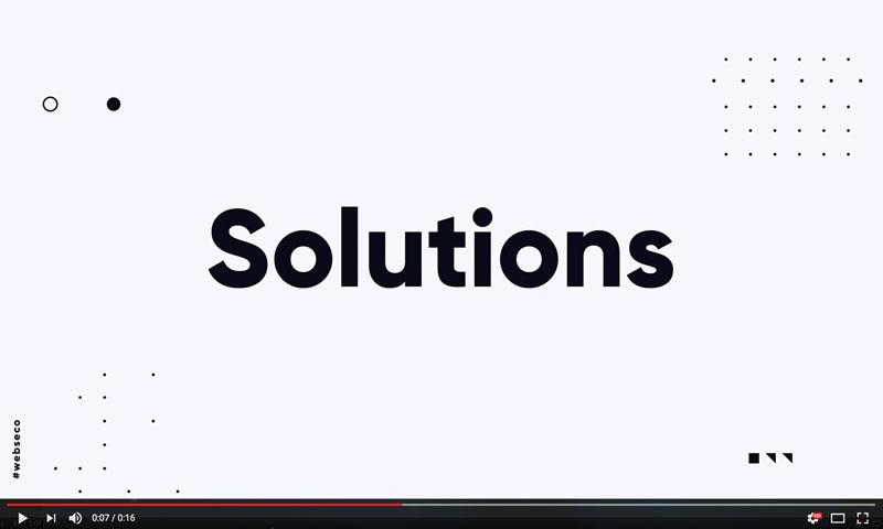 Vidéo Promotionnelle - Webseco