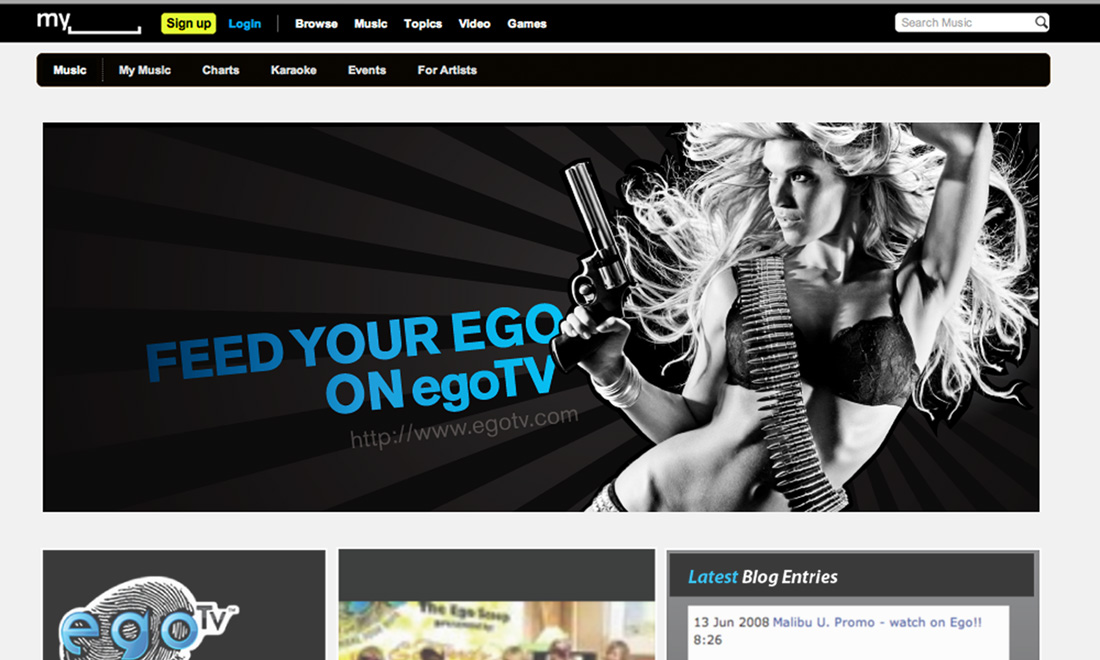EgoTv Advertising Design