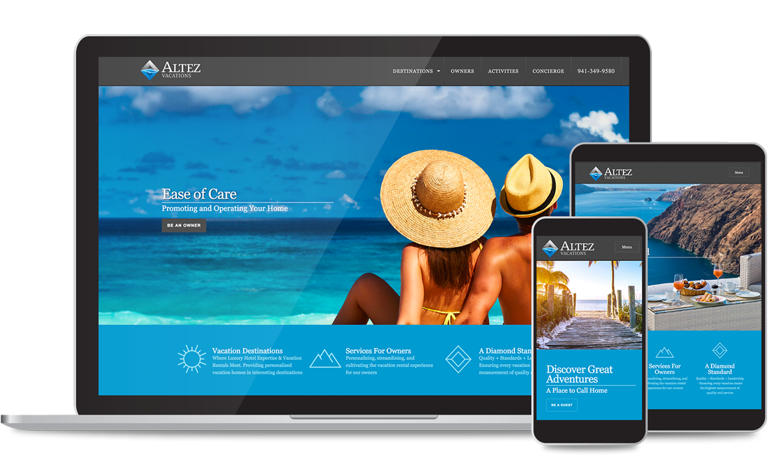 Altez Vacations Custom Web Design