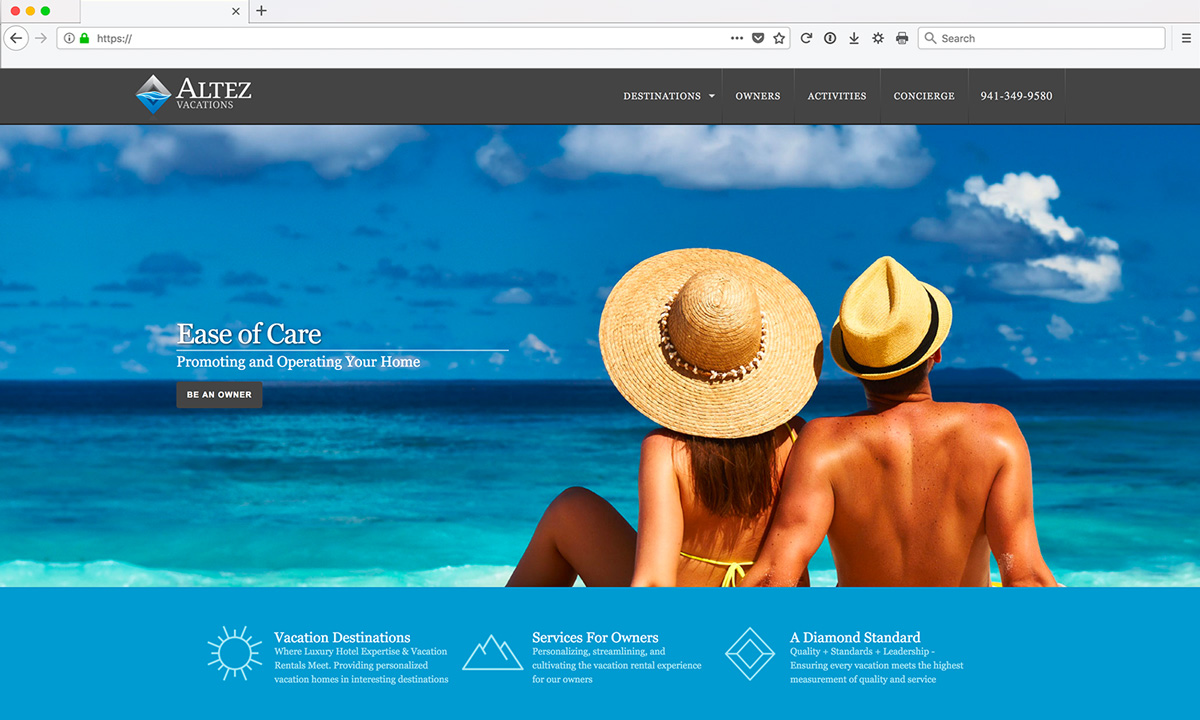 Altez Vacations Custom Web Development