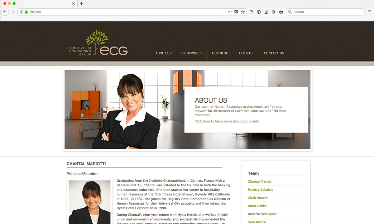 ECG Website Design