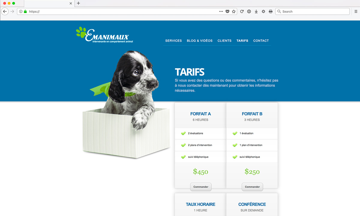 Site Web - Comportement Animal