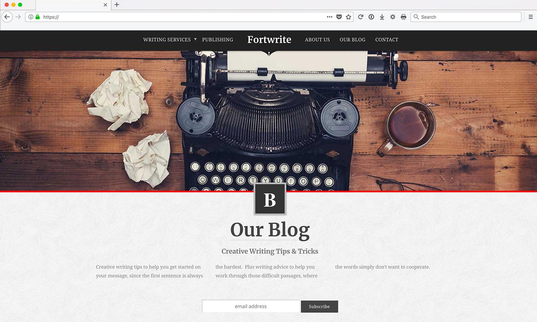 Site Web pour Rédacteur