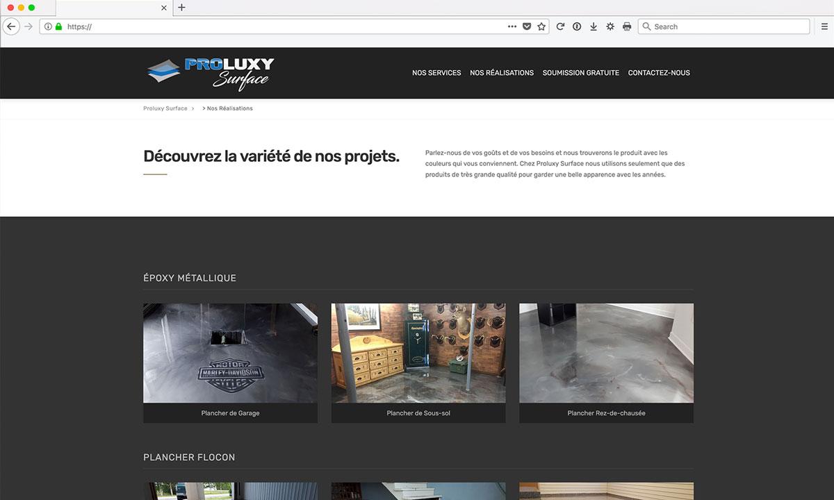 Site Web Finition de Béton