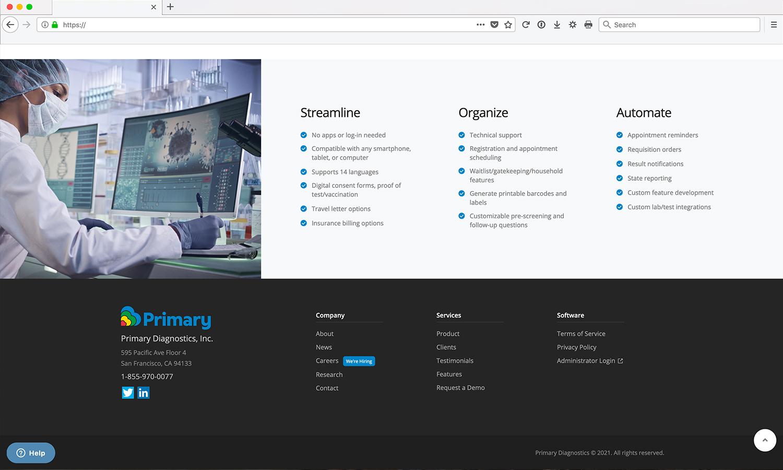 COVID-19 Website Design & Development