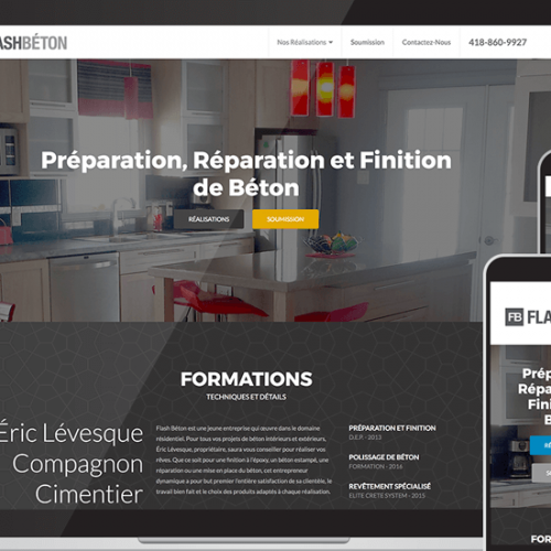 Flash Béton Custom Web Design